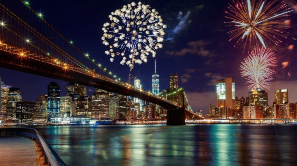 I actually to see the July 4th fireworks from here, under my beloved Brooklyn Bridge, one year!