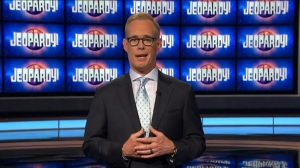 Joe Buck.  (I always thought his glasses are crooked, but in this pic, it appears to be his eyes that are!)
