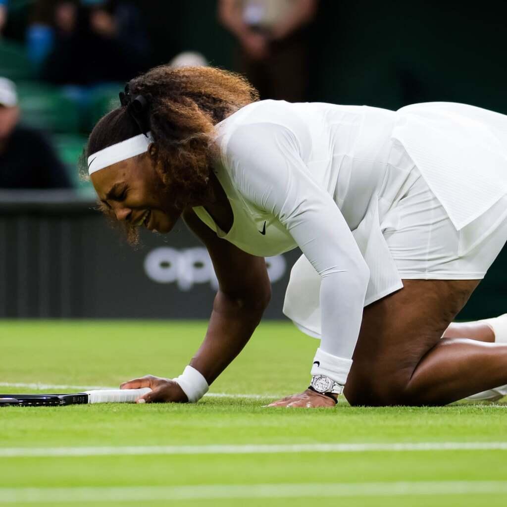 Serena Williams at Wimbledon 2021.