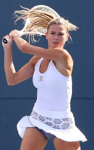Camila Giorgi, in one of her many cute outfits.