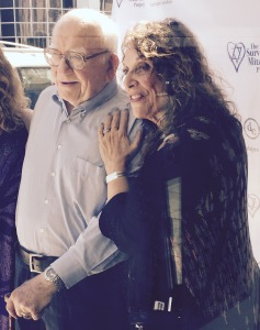 Ed Asner with  A Star Shines For Survivors event organizer, Zane Buzby. Photo by Karen Salkin.