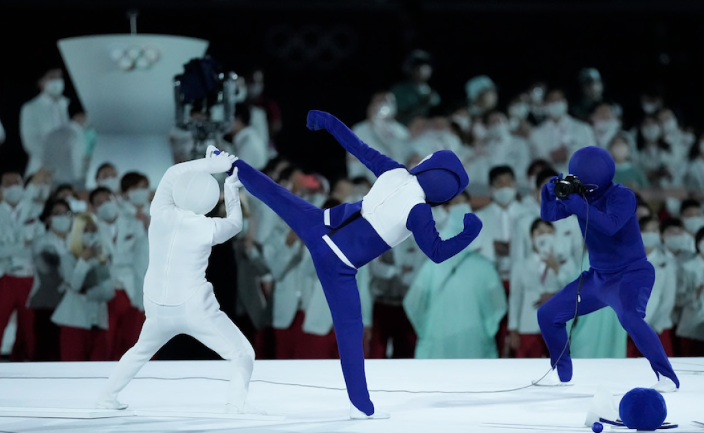 One of the sports pictograms by the Japanese performers at the Opening Ceremony, as is the one at the top of this page.
