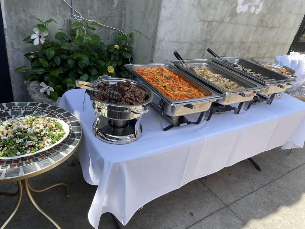 The delicious La Boheme buffet.  Photo by Karen Salkin, as is the image at the top of this article.