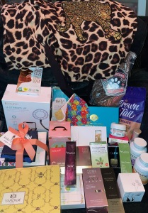 Some of the contents of the giant VIP gift bags. Photo by Karen Salkin.